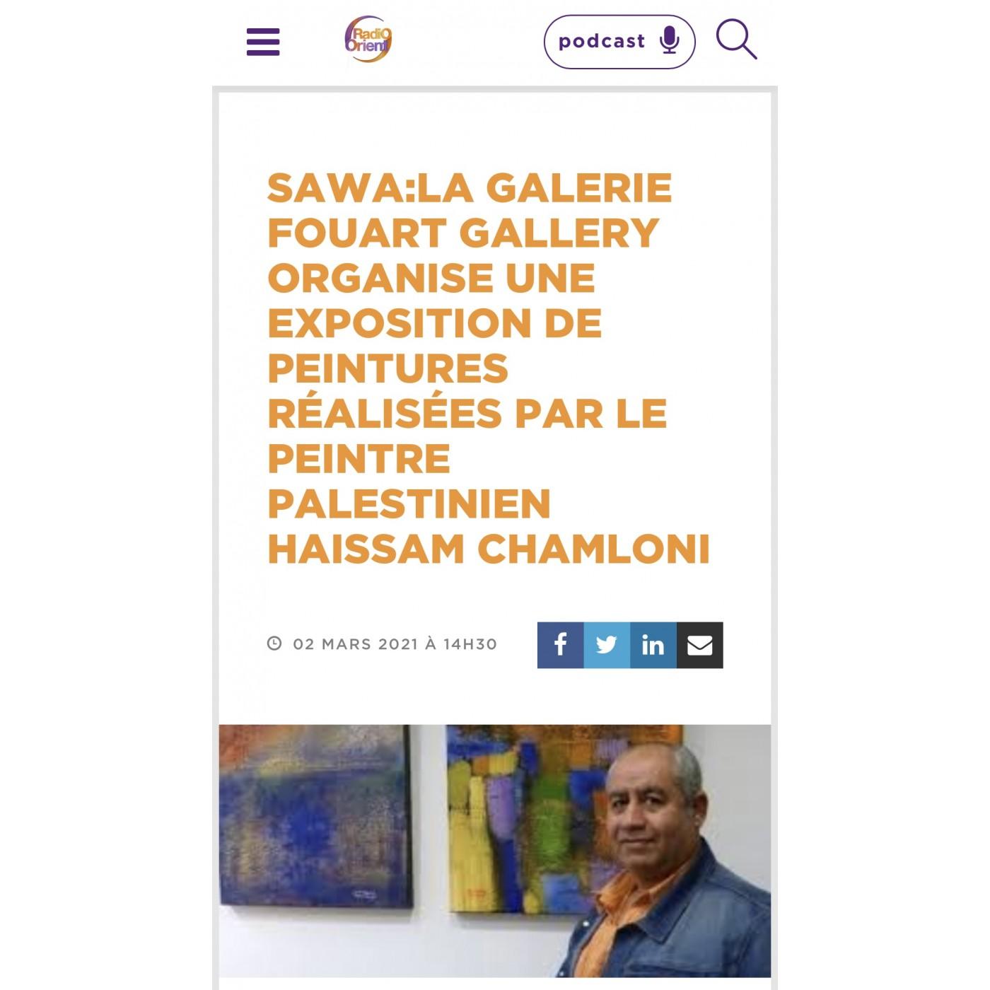 Live Interview of Haissam Chamloni at Radio Orient