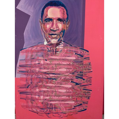 "Manu Ngog - ""Obama feu de paille"" - 2008"