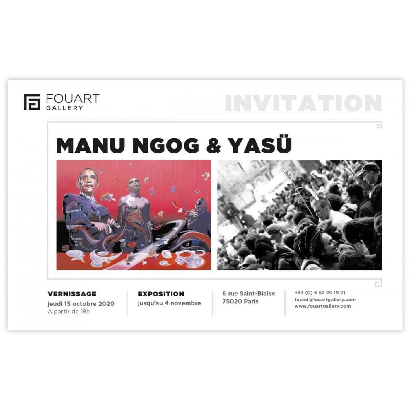 Exposition MANU NGOG et YASÜ